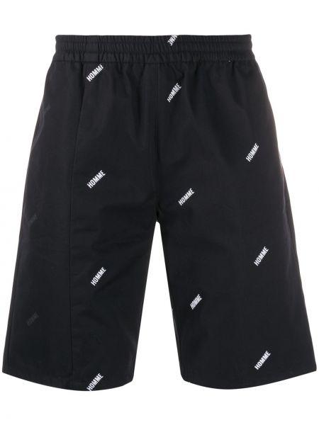 Черные шорты свободного кроя с поясом Not Guilty Homme