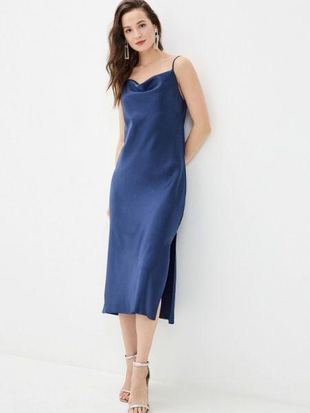 Платье платье-комбинация синее Imocean