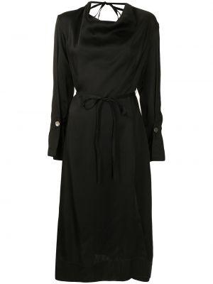 Платье миди с длинными рукавами - черное Eudon Choi