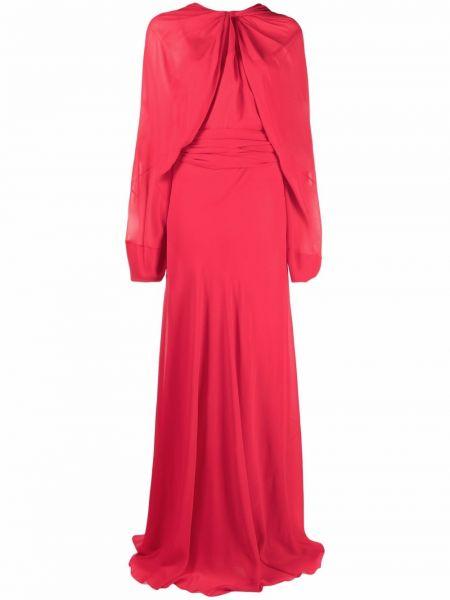 Вечернее платье длинное - красное Maison Margiela