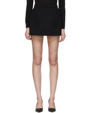Czarny spódnica mini z łatami z kieszeniami Red Valentino