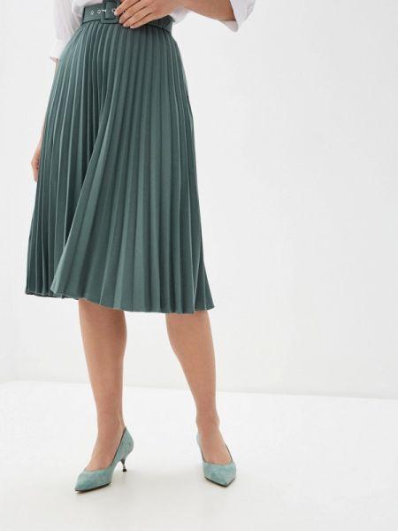 Плиссированная юбка зеленый весенняя Zarina