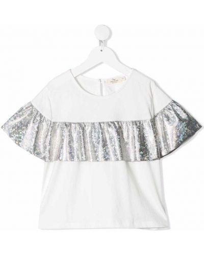 Bluzka materiałowa - biała Andorine