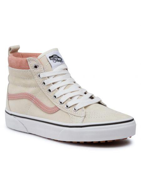 Zamsz biały sneakersy Vans