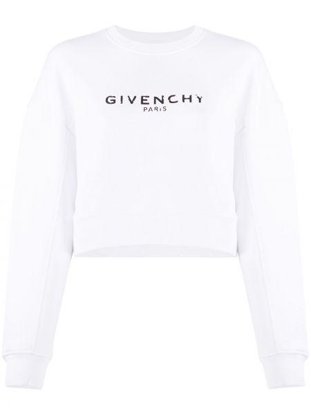 Bawełna czarny bawełna bluza z mankietami Givenchy