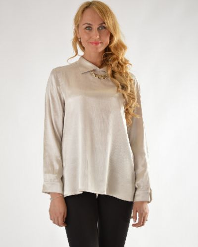 Серая блузка Collezioni Di Laranor