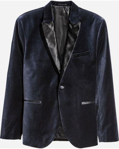Бархатный пиджак - синий H&m