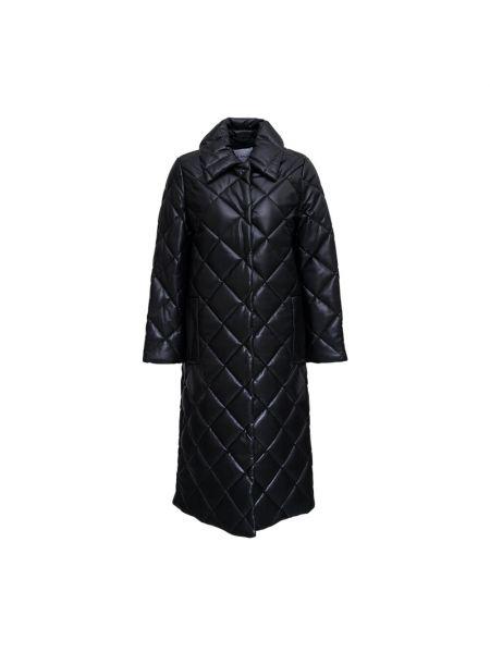 Czarny płaszcz pikowany Stand Studio