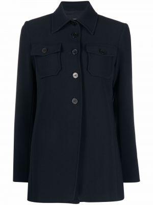 Приталенная рубашка с длинным рукавом - синяя Alberto Biani