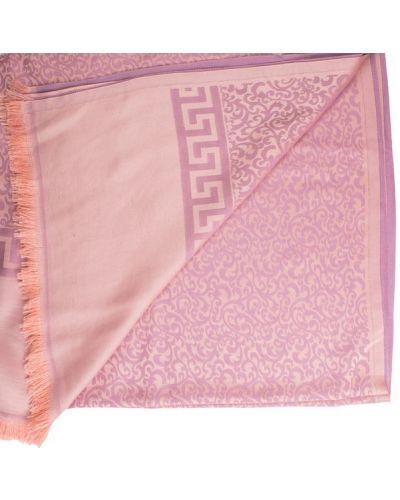 Розовый шелковый шарф Eterno