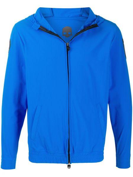 Niebieska kurtka z kapturem z długimi rękawami Hydrogen