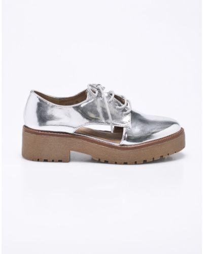 Туфли на танкетке на шнуровке на каблуке Corina