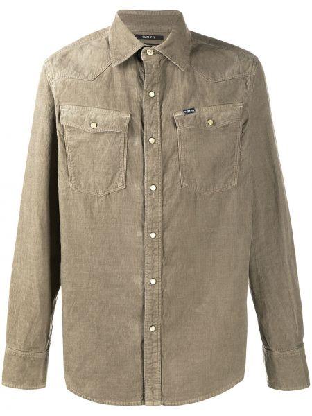Хлопковая с рукавами классическая рубашка с воротником G-star Raw