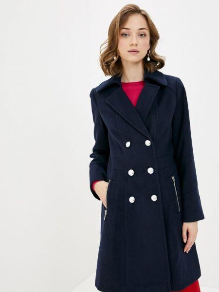 Синее пальто с капюшоном Wallis