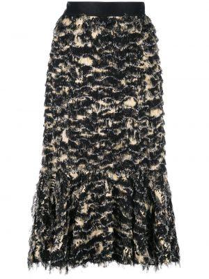 Ażurowa czarna spódnica maxi z wiskozy Proenza Schouler