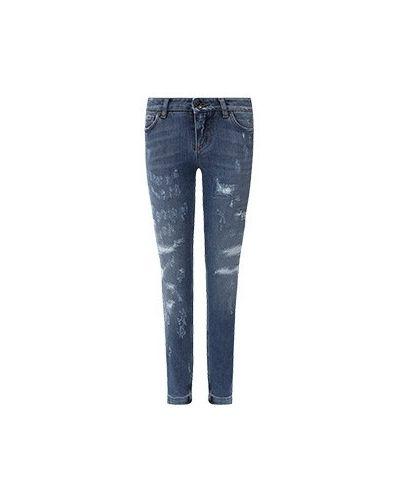 Синие зауженные джинсы-скинни Dolce&gabbana
