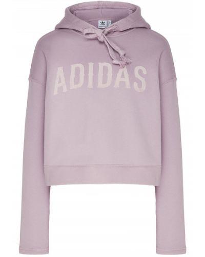 Худи белое с капюшоном Adidas