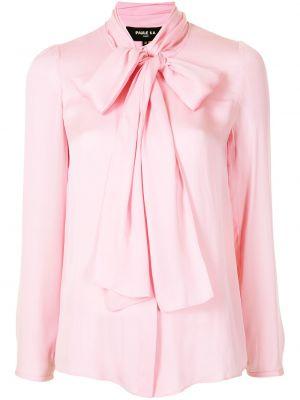 Шелковая рубашка - розовая Paule Ka