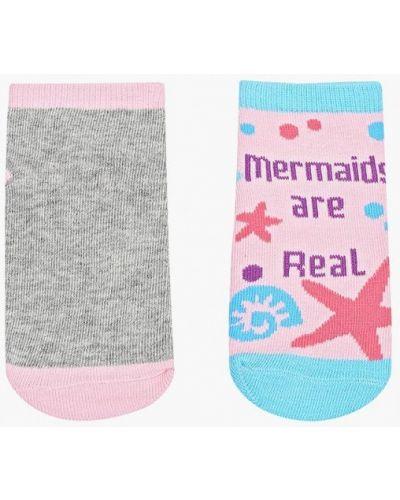 Носки серые розовый Sela