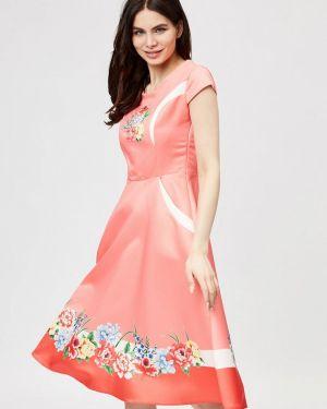 Платье коралловый прямое D'she