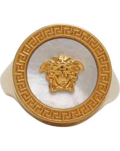 Зеленое кольцо Versace