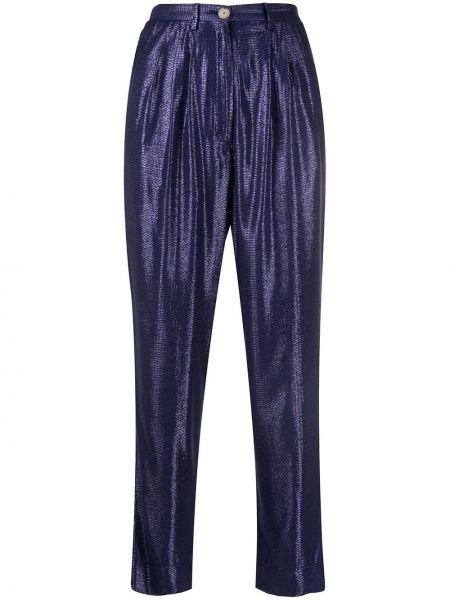 Укороченные брюки плиссированные брюки-хулиганы Forte Forte