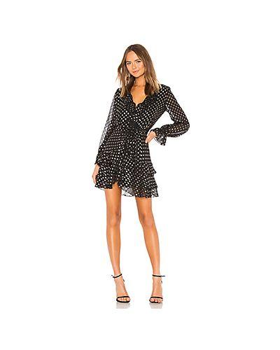 Платье с поясом в горошек с завышенной талией Bardot