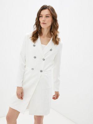 Прямое платье - белое Moki