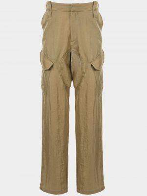 Beżowe spodnie z paskiem ciążowe Affix
