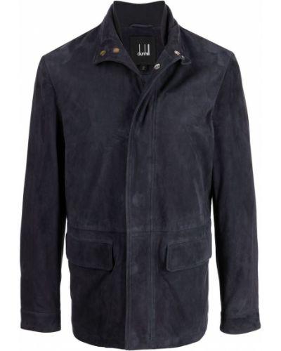 Niebieska kurtka zamszowa Dunhill