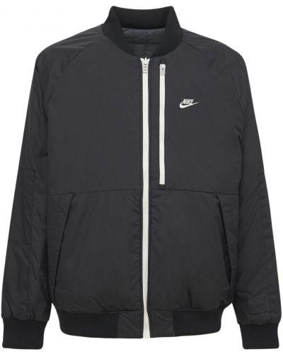 Бомбер с логотипом - черная Nike