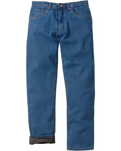 Синие с завышенной талией модные джинсы классические Bonprix