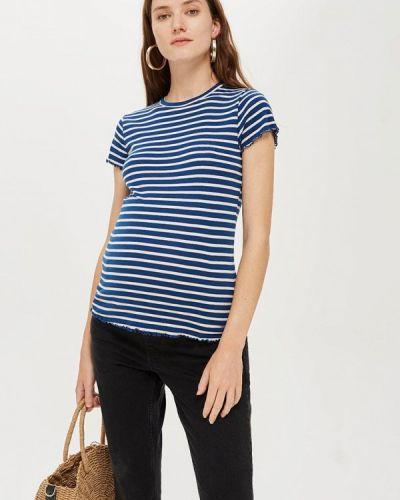Синее поло Topshop Maternity