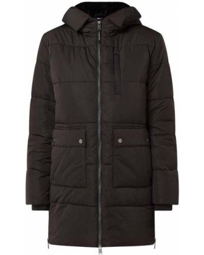 Czarny pikowana kurtka jeansowa z zamkiem błyskawicznym Tommy Jeans