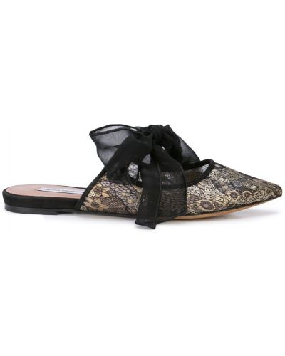 Мюли на каблуке черный Tabitha Simmons