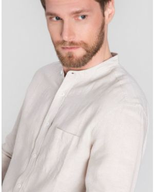 Рубашка с длинным рукавом с карманами с воротником-стойкой Ostin