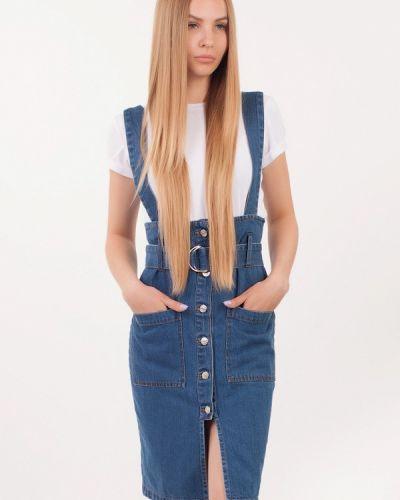 Синяя джинсовая юбка Tim Faden