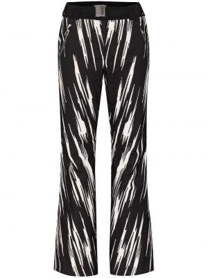 Расклешенные черные с завышенной талией горнолыжные брюки Colmar