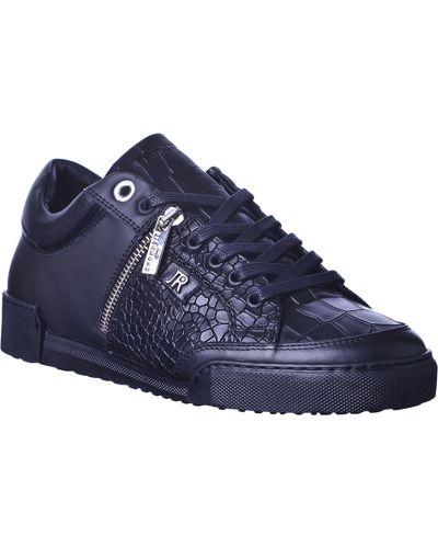 Кожаные кроссовки - черные John Richmond