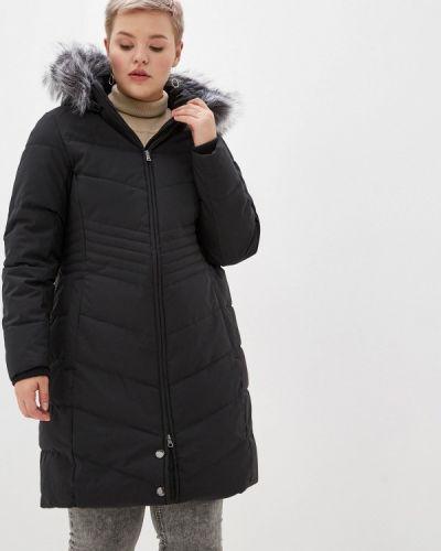 Зимняя куртка утепленная черная Zizzi