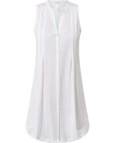 Biała koszula nocna bawełniana bez rękawów Hanro