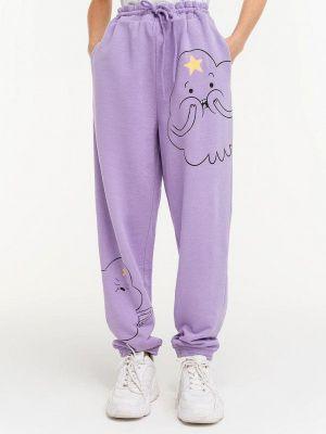 Фиолетовые спортивные брюки Befree