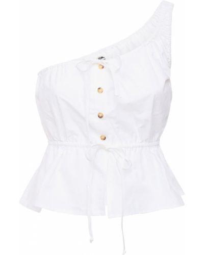 Biały top bawełniany asymetryczny Ciao Lucia