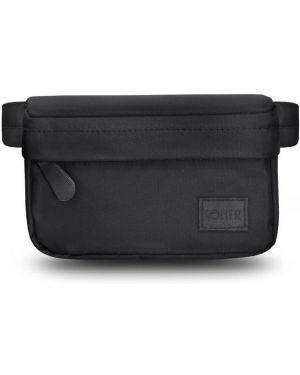 Czarna torebka duża materiałowa oversize Solier