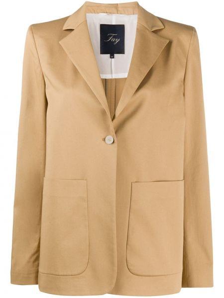 Куртка на пуговицах с карманами Fay
