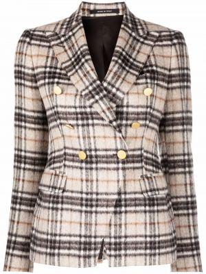 Бежевый шерстяной пиджак Tagliatore
