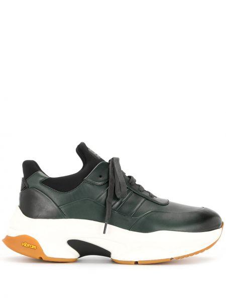 Кожаные кроссовки - зеленые Bally