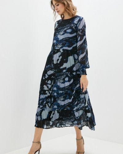 Прямое синее платье B.young