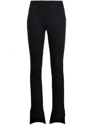 Зауженные черные укороченные брюки с манжетами Rosetta Getty
