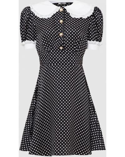 Черное платье мини в горошек Miu Miu